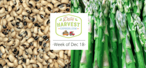 Coming this week 12/18/17: black-eyed pea sprouts, citrus, and more!