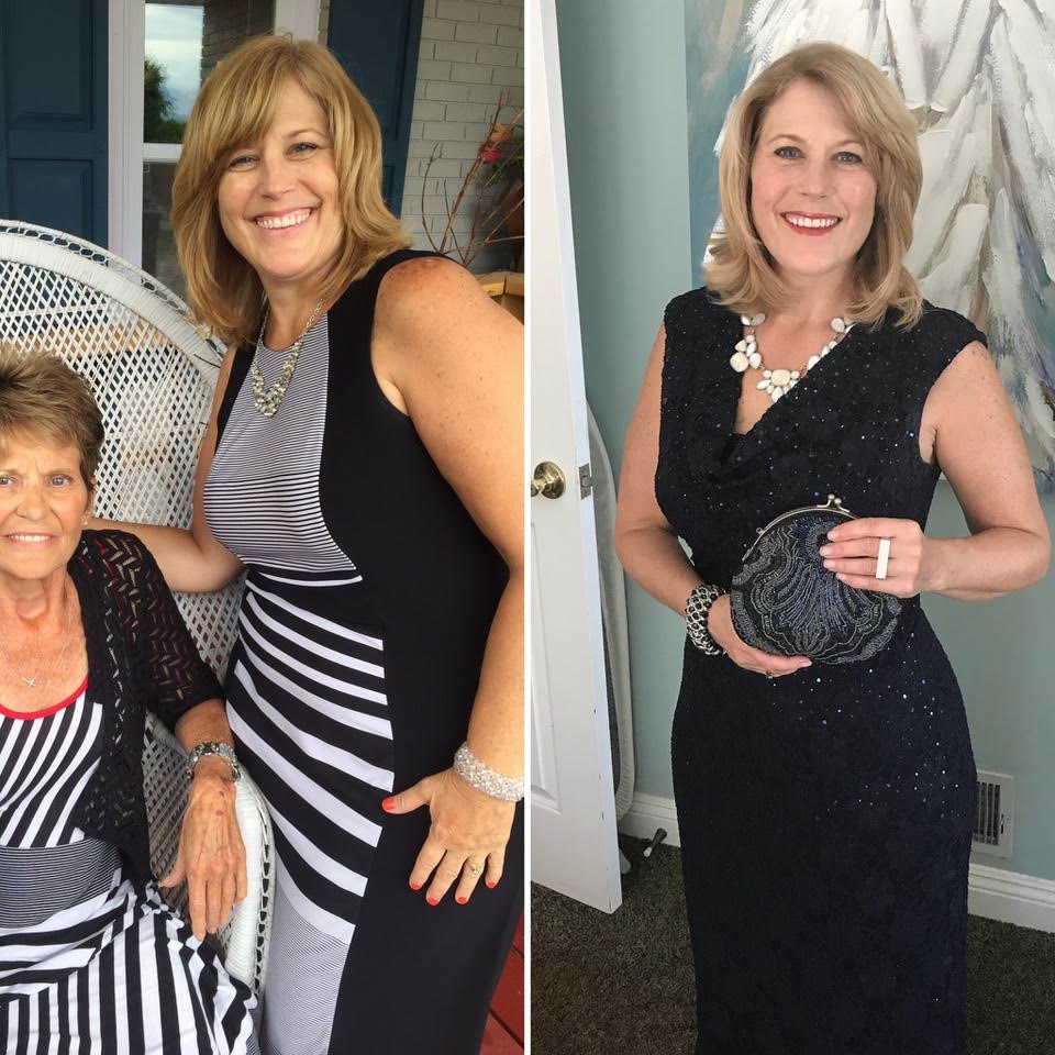 Aimee Anderson - Before (left) and after (right) going sugar-free.