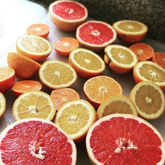 Sweet, simple, delicious dessert: fresh citrus.